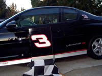 Composite image Earnhardt case over Monte Carlo door